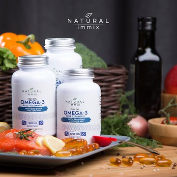 Natural immix - Fish Oil Omega-3 Plus Vitamin D